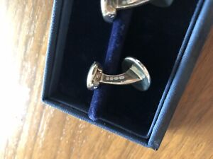 Ralph Lauren Purple Label Sterling Silver Cufflinks