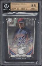 CLINT FRAZIER 2014 BOWMAN INCEPTION INCEPTIONED ON CARD AUTO #D 16/35 BGS 9.5 10