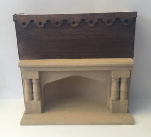 Dolls House Large Medieval/Tudor Fireplace