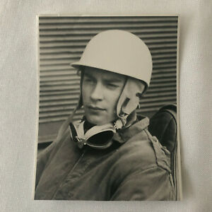 Vintage 1950s Racing Photo Photograph - Stirling Moss Driver Portrait