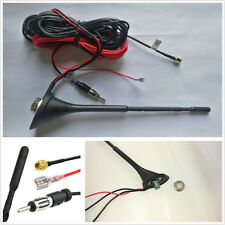 Car DAB/DAB+ Radio Aerial Amplified Roof Mount Antenna AM/FM SMA Male Connector