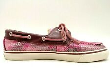 Sperry Top Sider Pink Shimmer Faux Fur Lined Deck Boat Loafers Shoes Women's 8 M