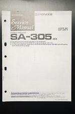 PIONEER SA-305 Original Additional Service-Manual/Anleitung/Schaltplan! o28