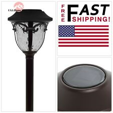 Bronze HAMPTON BAY Solar Outdoor Landscape Led Path Lighting Waterproof Glass