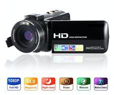 "Digital Video Camera Camcorder 3"" Screen FHD 1080P 24MP Vlogging Youtuber Record"