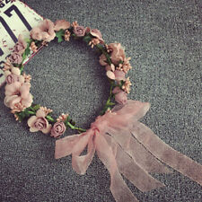 Fille Floral Couronne Rose Fleur Serre Tête - Mariage Guirlande de Cheveux