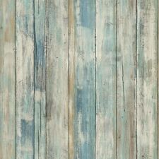 RMK9052WP Blue Distressed Wood Peel and Stick Wallpaper FREE SHIPPING
