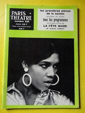 Paris Théâtre n° 235 Jacques Audiberti La Fête Noire