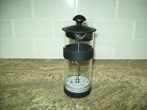 Ninja Coffee Bar Easy Milk Frother with Manual Press Glass Black Lid BPA Free