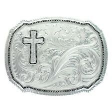 Montana Silversmiths Right Cut of the Rope & Cross Buckle 30510-929M