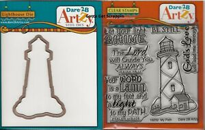 Dare 2B Artzy MY PATH LIGHTHOUSE Clear Cling Stamps & LIGHTHOUSE Die Set COMBO