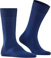 Falke Men's 246175 Cool Sock Blue Crew Cut Socks Shoes Size 11-12