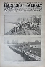 1897 Harper's Weekly Journal Magazine April 24, Mississippi River Floods, Greece