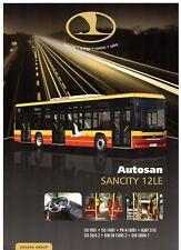 Autosan Sancity 12LE City Bus 2011-12 UK Market Single Sheet Sales Brochure