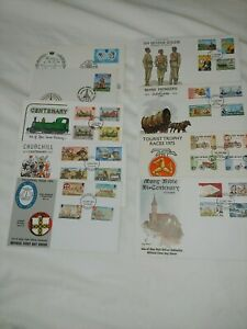 Isle of Man First Day Covers 1973 - 1995 Multiple Listing - Mint Condition