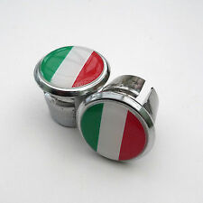 Vintage Style Italian Flag Racing Bar Plugs, Caps