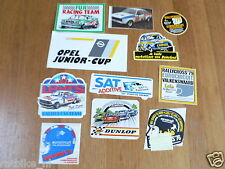 STICKER,DECALS SET 2 RALLYE CARS,RALLY LOT OF ABOUT 11 STICKERS SEE PICTURES