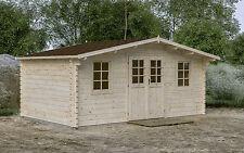 44 mm Gartenhaus 500x320 cm Gerätehaus Holz Hütte Holzhaus Blockhaus Lounge
