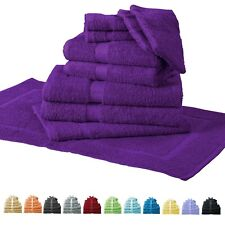 10 tlg Handtuch-Set Handtücher Duschtücher Gästetücher Waschhandschuhe Badematte