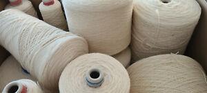 14,5 kg Garnpaket rohweiß Konengarn 100% Wolle stricken Strickgarn Konengarn