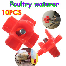 10PCS Mini Chicken Drinking Nipple Water Feeder Automatic Poultry Waterer Kit