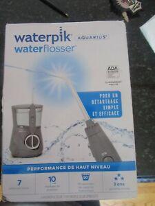 WATERPIK WATER FLOSSER AQUARIUS WP-667CD MODERN GRAY NEW OPENED FOR INSPECTION