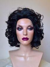Volume Curls Elizabeth Taylor Style Wig Black Auburn Red or Light Blonde