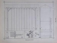 Klettergerüst mit Reck, Architektur - alte Tafel aus 1895 architecture  T124