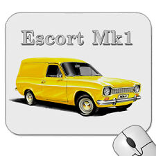 FORD  ESCORT  MK1   PANEL VAN  MOUSE PAD  ( 7 CAR COLOURS )