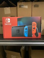 Nintendo Switch with Neon Blue and Neon Red Joy‑Con (Newest Model - V2)