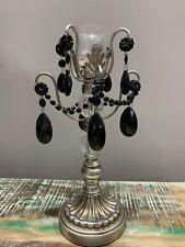 Ornate Candle Holder Candlestick Pillar Crystal Metal look Candelabra Home Decor