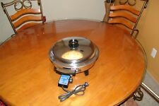 "12"" LIQUID CORE IMMERSIBLE ELECTRIC SKILLET #92010 NICE USED"