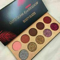 10 Farben Diamond Glitter Eyeshadow Sequins MakeUp Pressed Cosmetic Palette K7F3