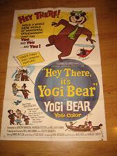 Hey There, It's Yogi Bear Orig, 1sh Movie Poster '64 Hanna-Barbera,