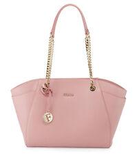NWT Furla Julia Winter Rose Medium Leather Tote Bag Handbag