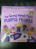 The World Needs More Purple People by Kristen Bell Auto Signed BAS CERTFIED