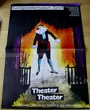 SWISS EXHIBITION  POSTER 1980 - theatre theatre - costumes scenery in 5 decades