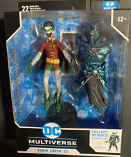 ?DC Multiverse ~ ROBIN EARTH-22 (CROW) SCREAMING MOUTH VARIANT w/MERCILESS BAF