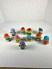 Vintage Hasbro Playskool lot of 10 Glo Bug Glow Worm friend Finger Puppets