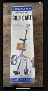 Dunlop Light Weight Folding Golf Cart Pull Cart Heavy Duty Steel Tube NIB