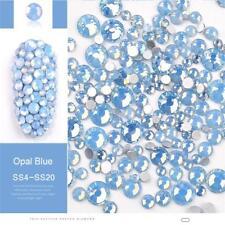 Opal Jelly Blue 3D Nail Art Rhinestones Mix Size Flat Back  Decor Tips