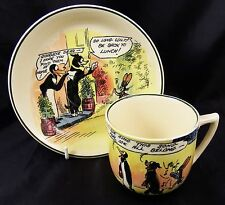 Very Rare Royal Doulton Pip Squeak & Wilfred Cup & Saucer D4741