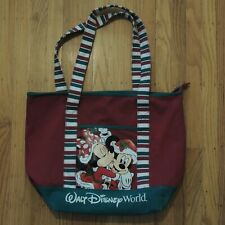 Walt Disney World Tote Bag Mickey Minnie Mouse Holiday Red Green Chirstmas