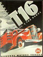 1937 1938 GMC Truck Model T16 1 & Half & 2 Ton Range Sales Brochure Red Original