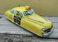 VTG RARE TIN TOY CAR HIGHWAY PATROL POLICE WIND-UP SOUND MARX PLASTIMARX MEXICO