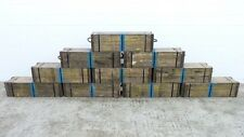 """US ARMY WWII WOODEN 3"""" AMMUNITION CRATE Box Ammo cannon artillery MILITARY wood"""