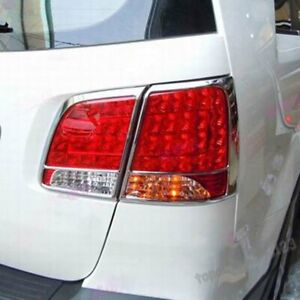 Fit Kia Sorento 2010-2015 ABS Chrome Rear Tail Lights Lamp Surrounds Cover Trim