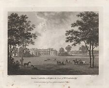 1779 ANTIQUE PRINT SEATS OF THE NOBILITY -WATTS-YORKSHIRE-BURTON CONSTABLE