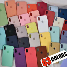 Funda Para iPhone X XR XS Max 8 7 6s Plus Original carcasas de Silicona Genuina