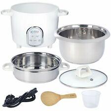 KeMar Kitchenware KRC-175 Reiskocher | 5 Programme | 1,4L | Edelstahltopf